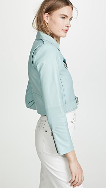 VEDA Baby Jane Smooth Leather Jacket
