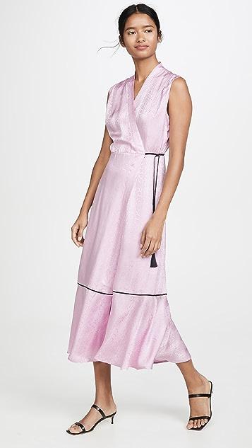 VEDA Bluebonnet 真丝裹身连衣裙