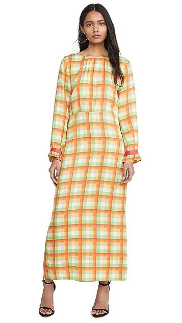 VEDA Платье из крепа Crane
