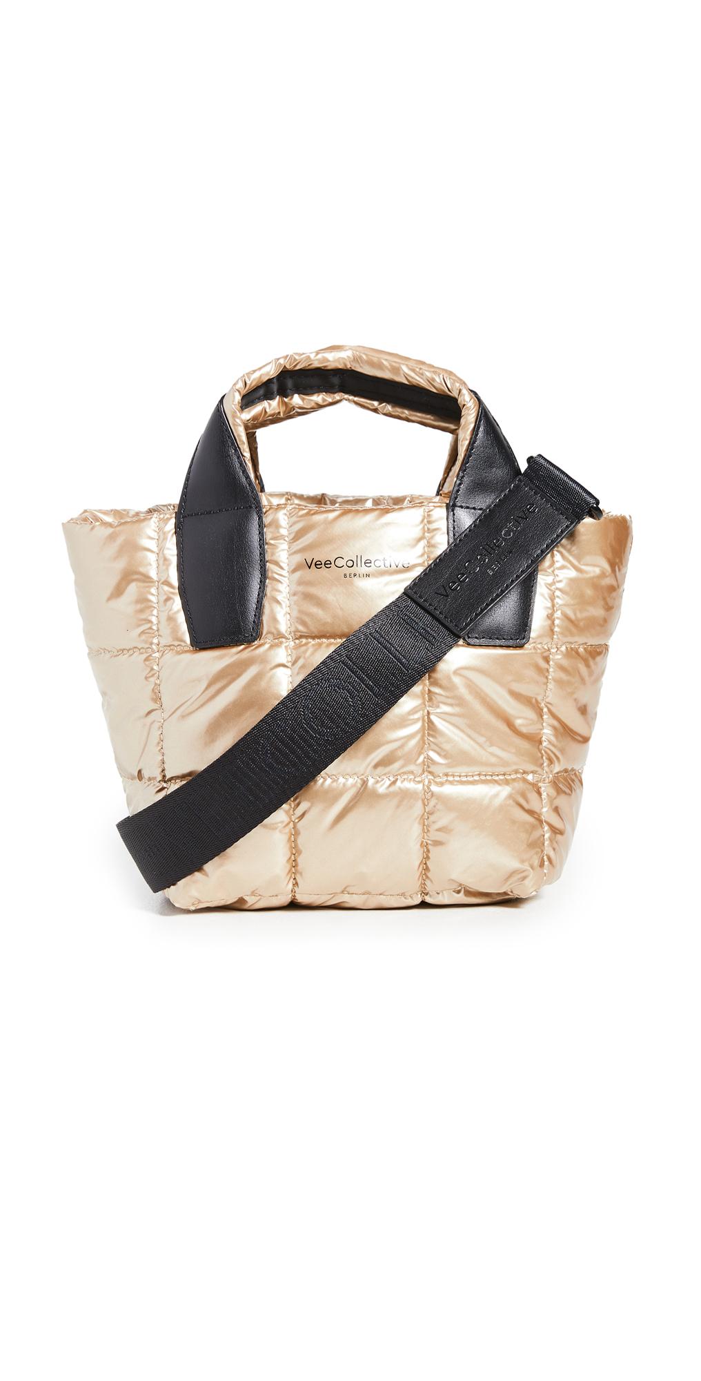 Vee Collective The Porter Mini Gold Metallic Bag