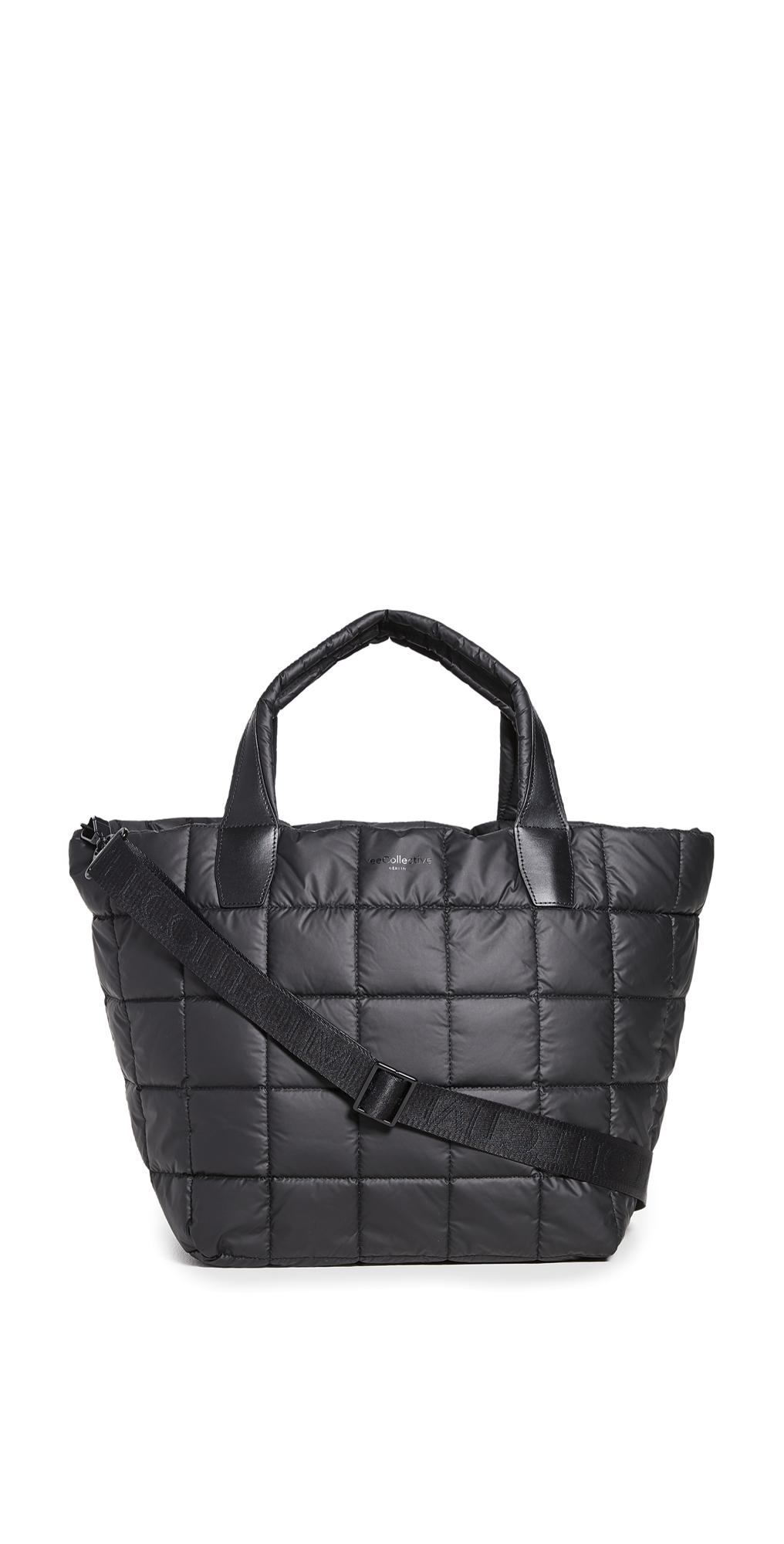 Vee Collective The Porter Medium Matt Black Bag