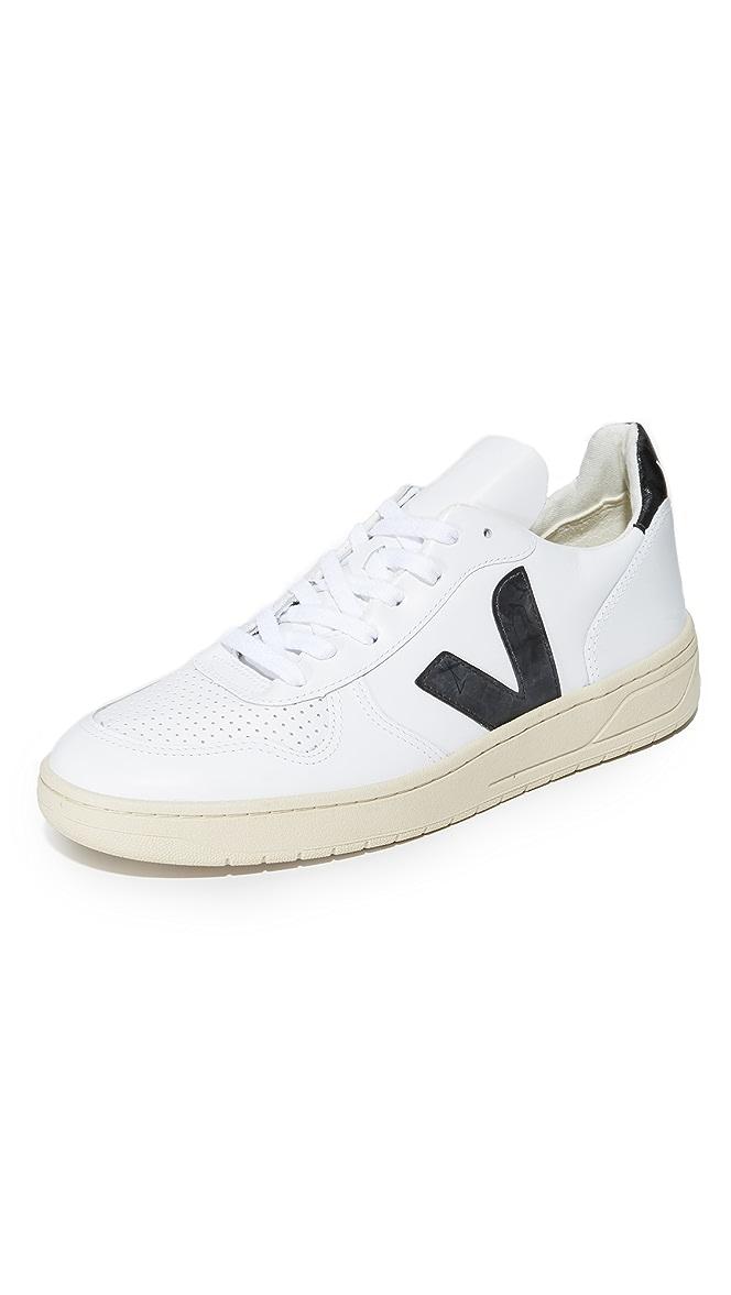 Veja V-10 Leather Sneakers | EASTDANE