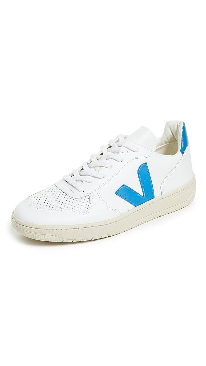 Veja V 10 Leather Sneakers | EASTDANE