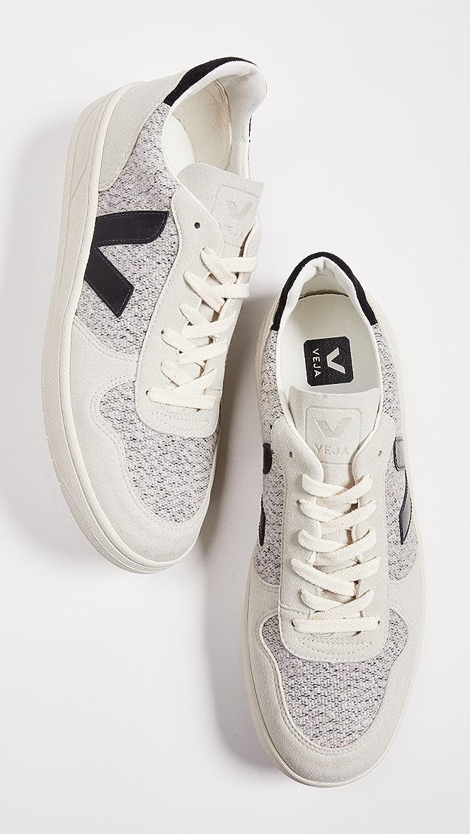 Veja V-10 Flannel Sneakers | EASTDANE
