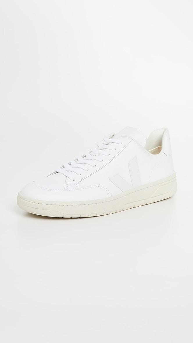 Veja V-12 Leather Sneakers | EAST DANE