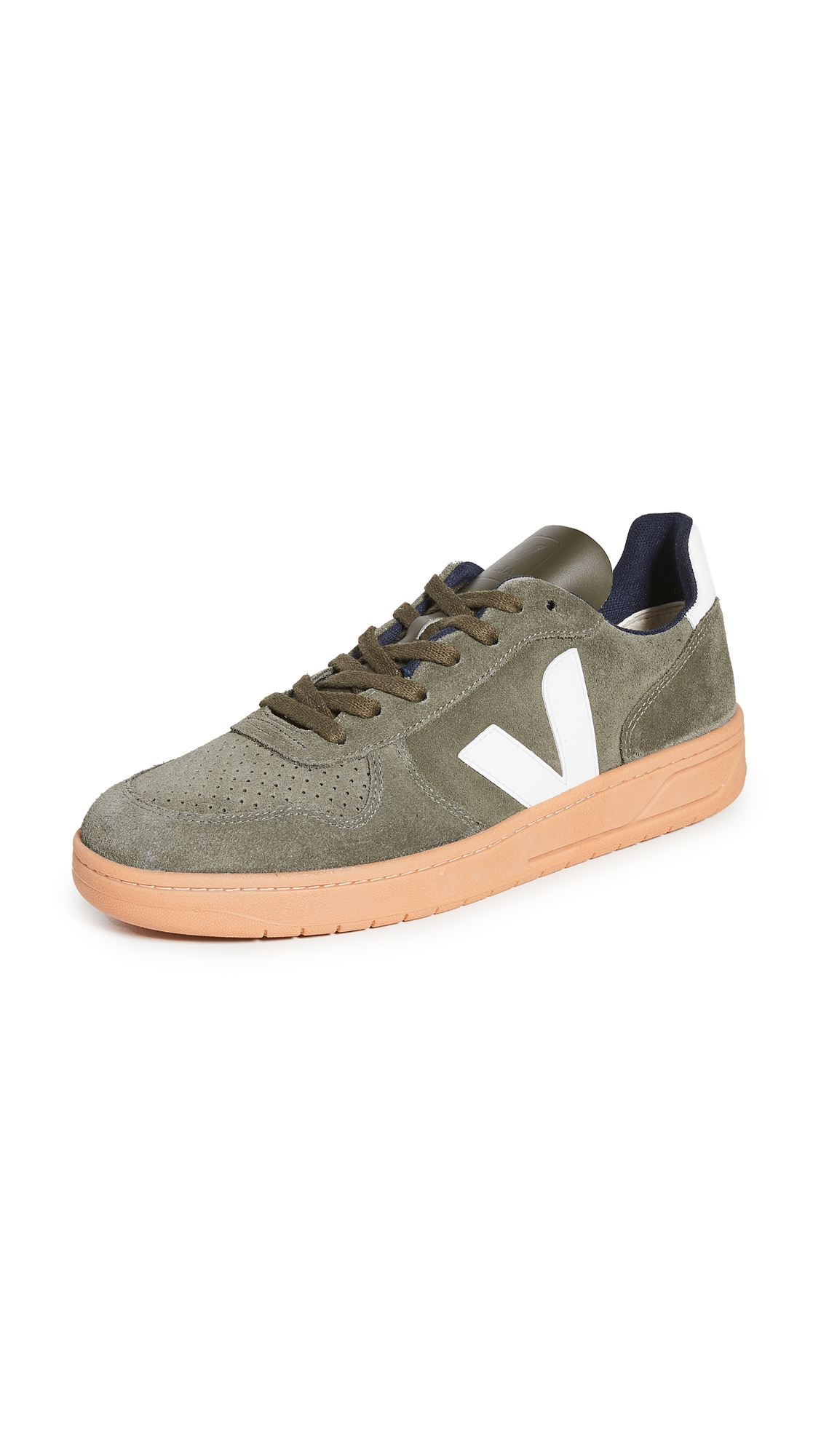 V-10 Suede Gum Sole Sneakers