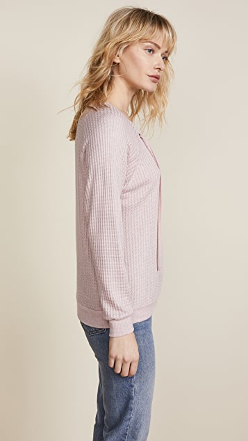 Velvet Texas Lace Up Sweater