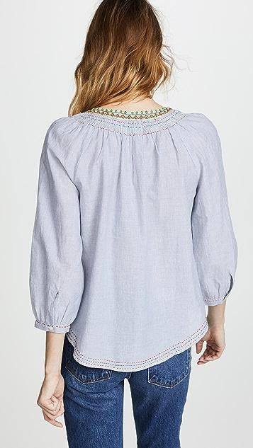Velvet Neena Embroidered Top