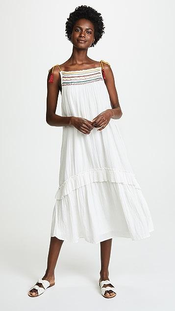 Velvet Embrodiered Midi Dress