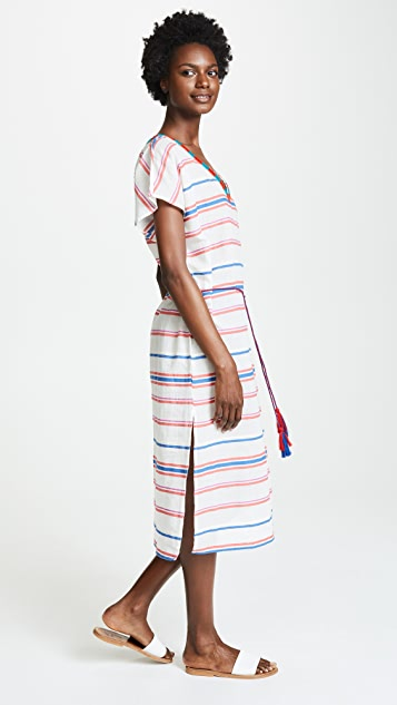 Velvet Stripe Caftan Dress