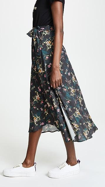 Velvet Swan Midi Skirt