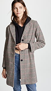Velvet Graham Houndstooth Coat