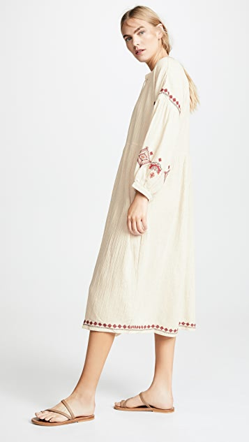 Velvet Etta Embroidered Dress