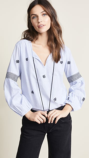 Velvet Aimee Embroidered Blouse
