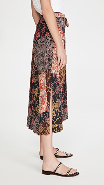 丝绒 Swan 半身裙
