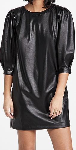 Velvet - Faux Leather Dress
