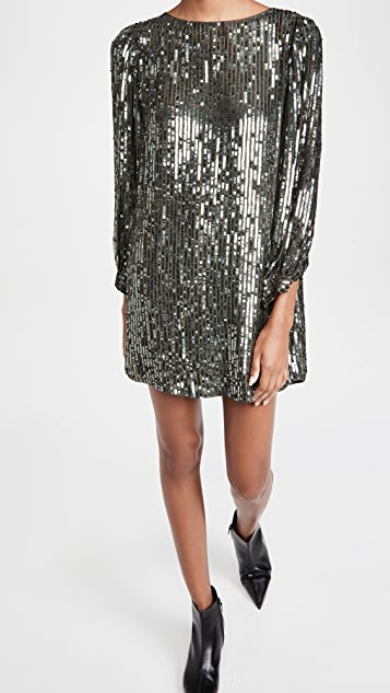 Velvet Sequin Shift Dress