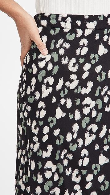 Velvet Snow Leopard Skirt