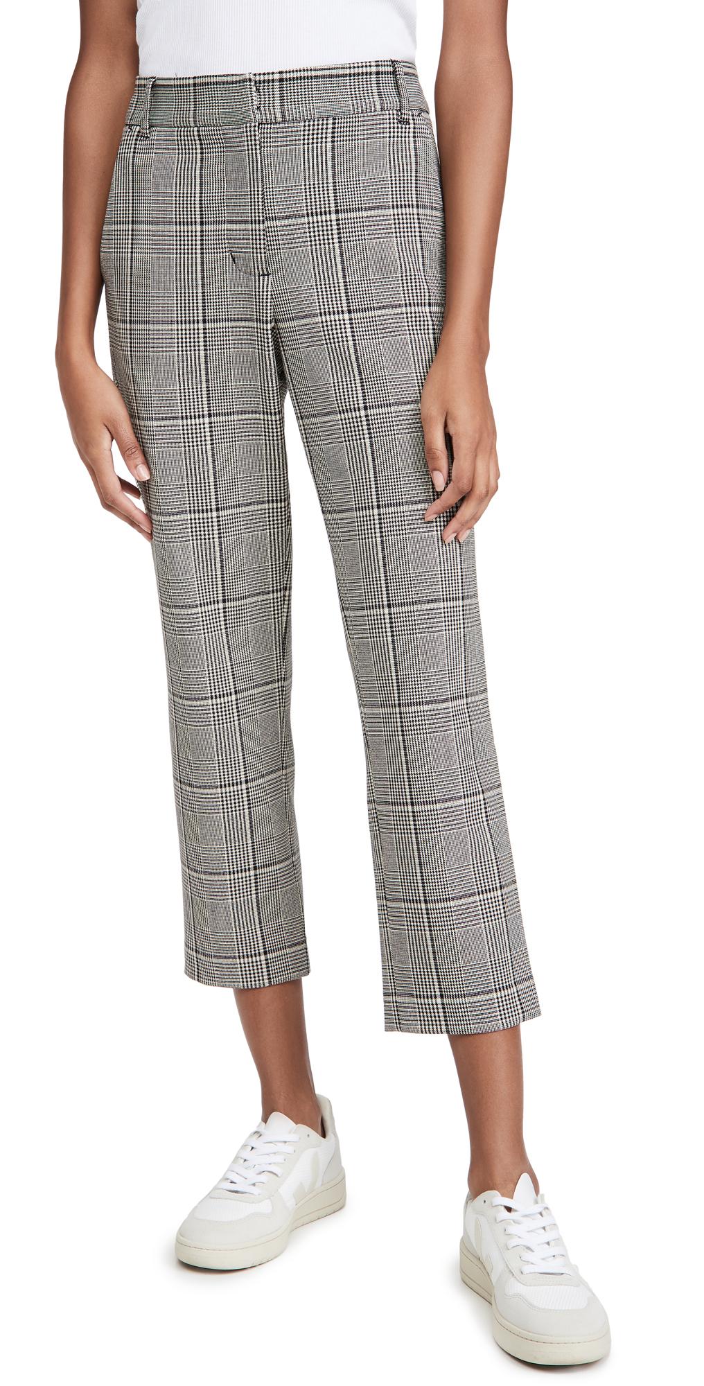 Velvet Plaid Pants