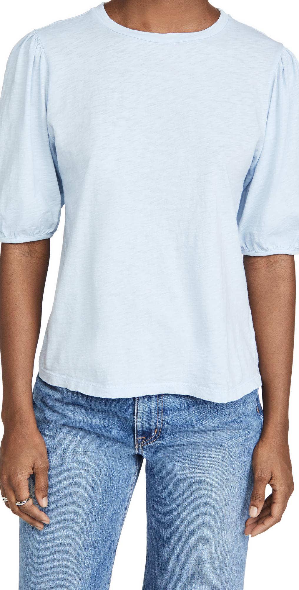 Velvet Puff Sleeve T-Shirt