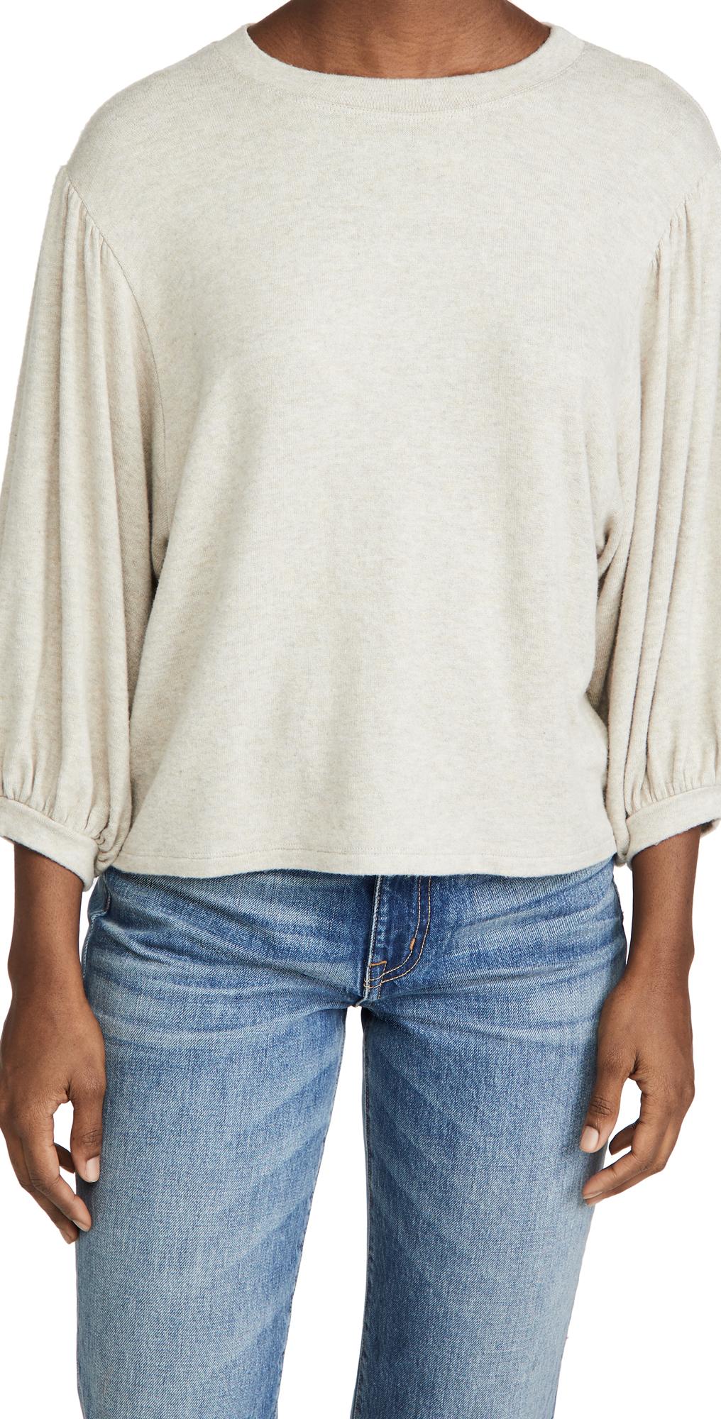 Velvet 3/4 Sleeve Sweatshirt