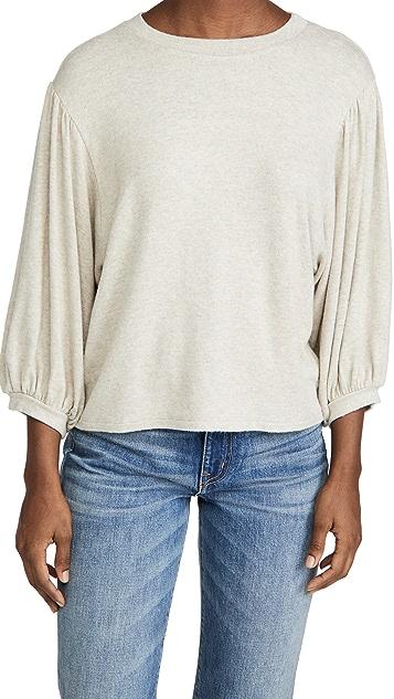 Velvet 七分袖运动衫