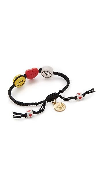 Venessa Arizaga Peace Love & Happiness Bracelet