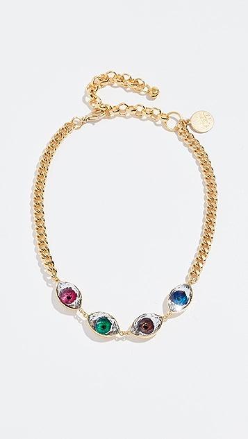 Venessa Arizaga Rainbow Eyes Necklace