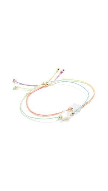Venessa Arizaga Twin Stars Bracelet Set of Two