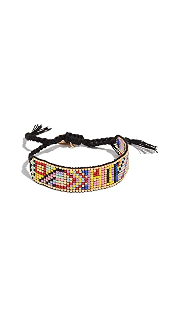 Venessa Arizaga Rainbow Hi Friendship Bracelet