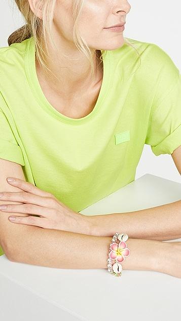 Venessa Arizaga Pink Plumeria Bracelet