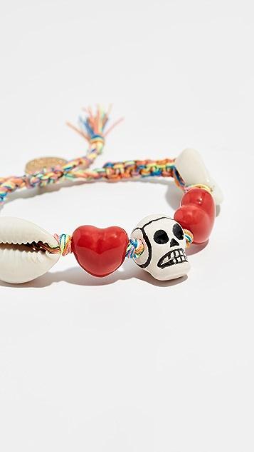 Venessa Arizaga Браслет Skull Heart