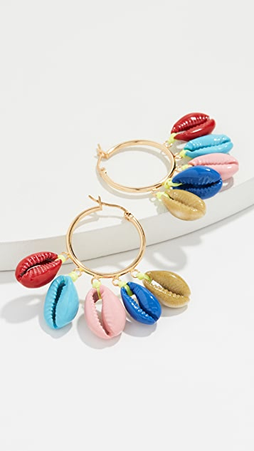 Venessa Arizaga Rainbow Shell Earrings