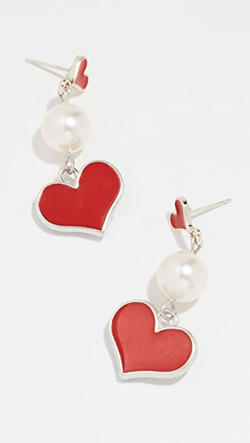 Venessa Arizaga Happy Heart Earrings