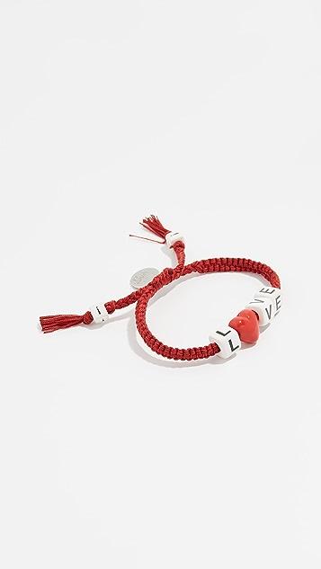 Venessa Arizaga Love Heart Bracelet
