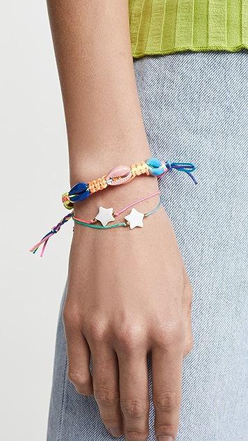 Venessa Arizaga Rainbow Shell Bracelet