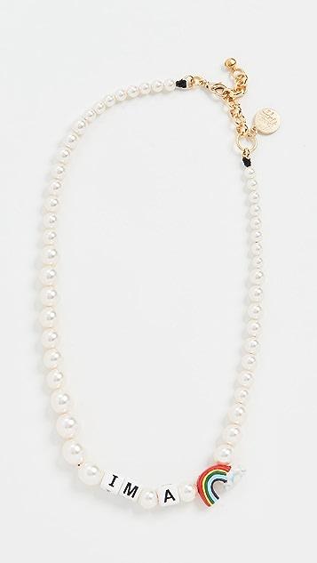 Venessa Arizaga I'm A Rainbow Pearl Necklace
