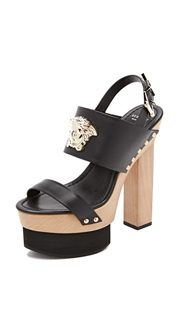 Versace Wedge Sandals