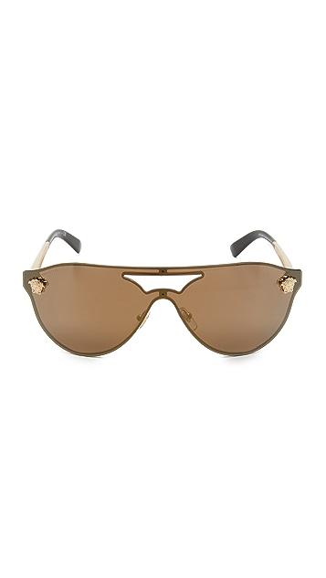 Versace Lense Aviator Sunglasses