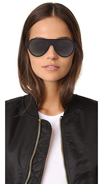 Versace Medusa Flat Top Sunglasses