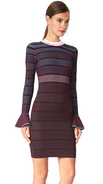 Versace Flutter Sleeve Knit Dress