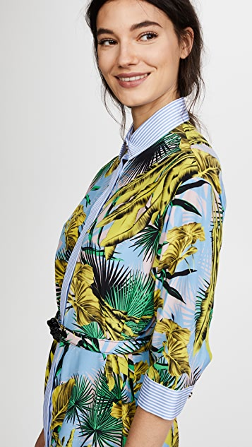 Versace Floral Printed Shirtdress