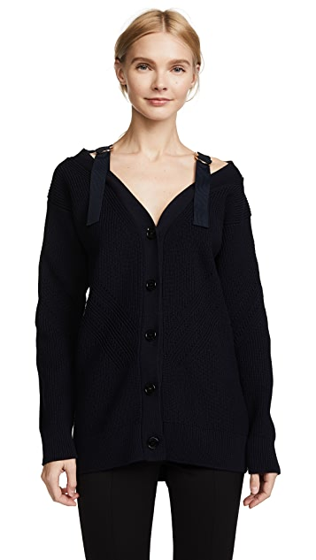 Versace Knit Cardigan with Straps
