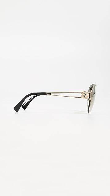 Versace Manifesto Round Sunglasses