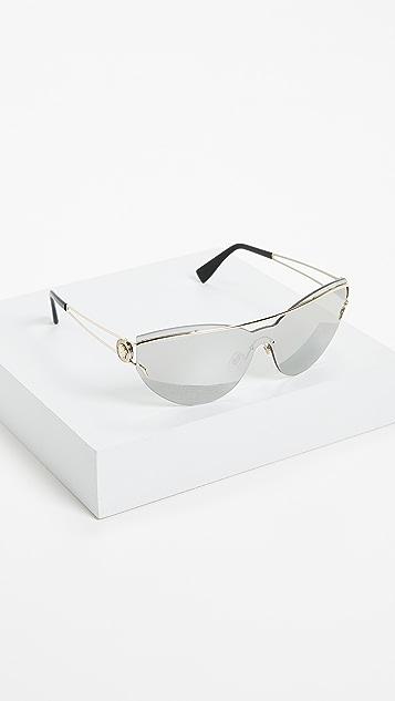 Versace Manifesto Mirrored Sunglasses