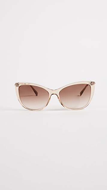 Versace Pop Chic Sunglasses - Transparent Light Brown/Brown