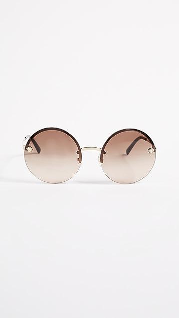 Versace Round Medusa Sunglasses