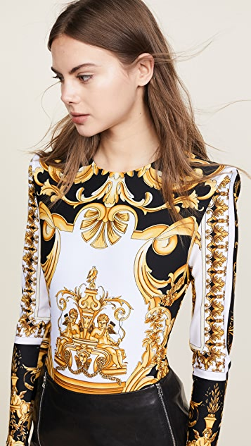 Versace Patterned LS Bodysuit