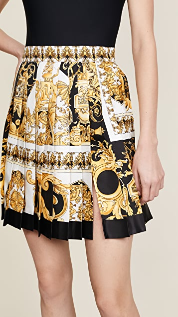 Versace Patterned Pleated Skirt