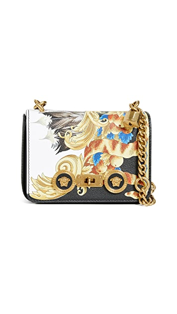 Versace Versace Icon Mini Flap Cross Body Bag